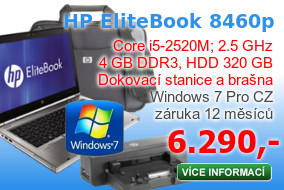 Notebook HP EliteBook 8460p+port replikátor HP se zdrojem+brašna HP